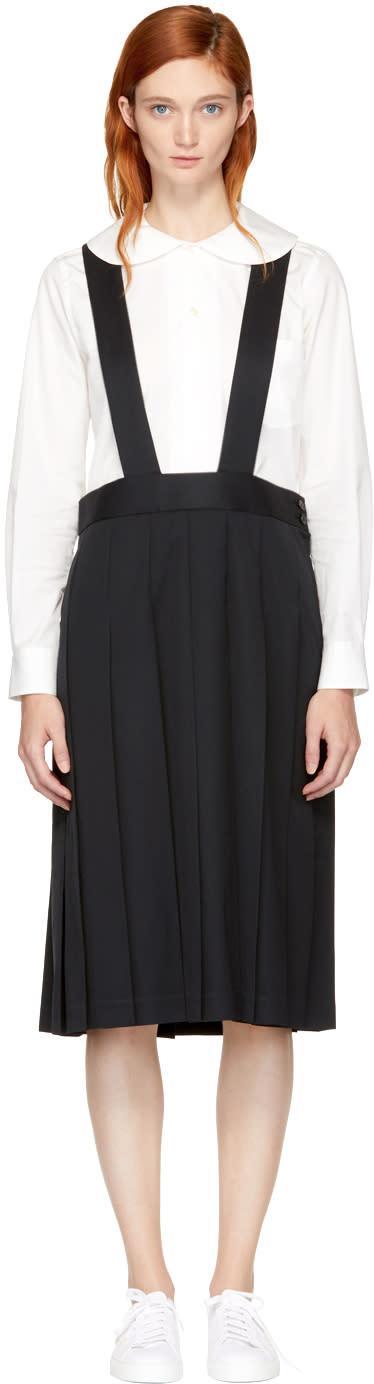Image of Comme Des Garçons Girl Black Pleated Suspender Skirt