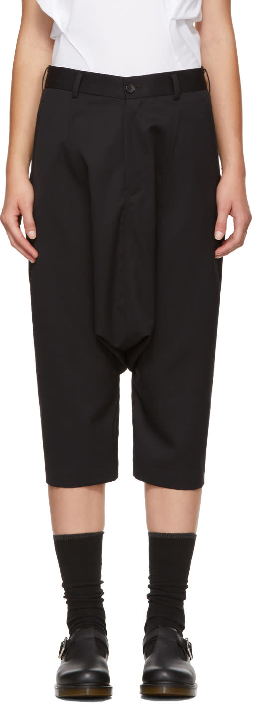 Image of Comme Des Garçons Girl Black Wool Sarouel Trousers
