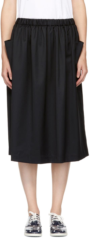 Image of Comme Des Garçons Girl Black Drawstring Skirt
