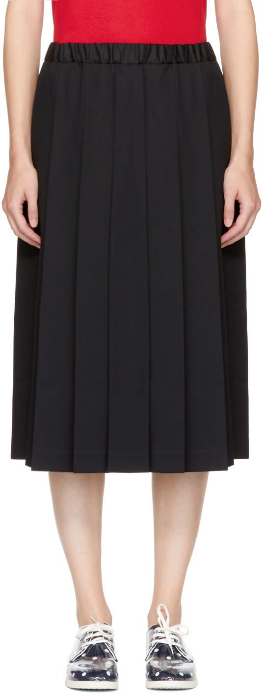 Image of Comme Des Garçons Girl Black Drawstring Pleated Skirt