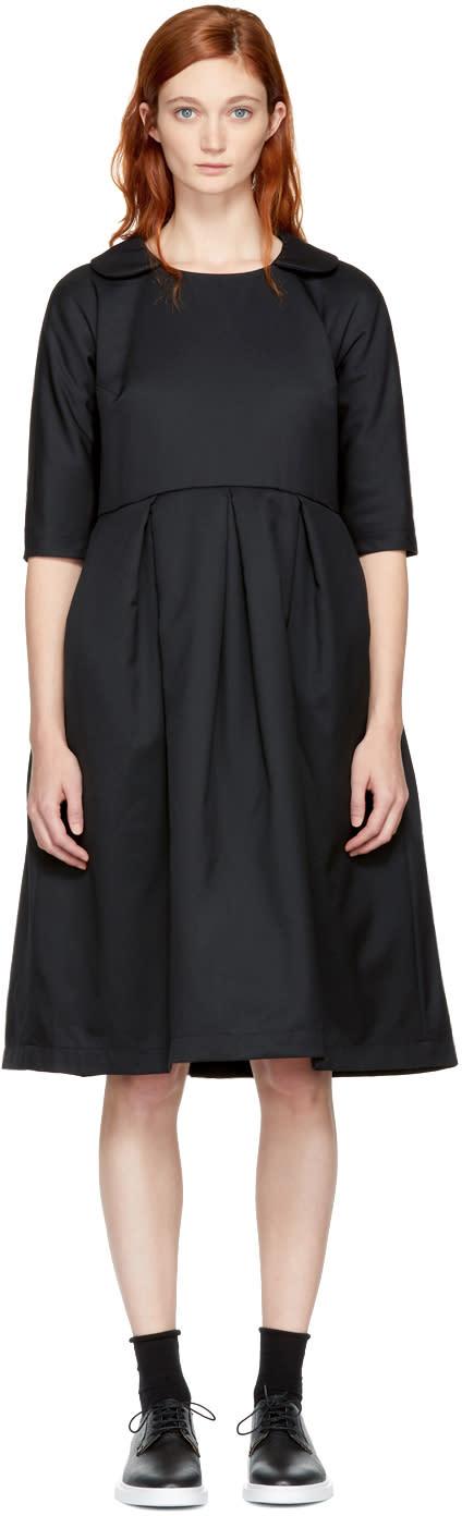 Image of Comme Des Garçons Comme Des Garçons Black Padded Collared Dress