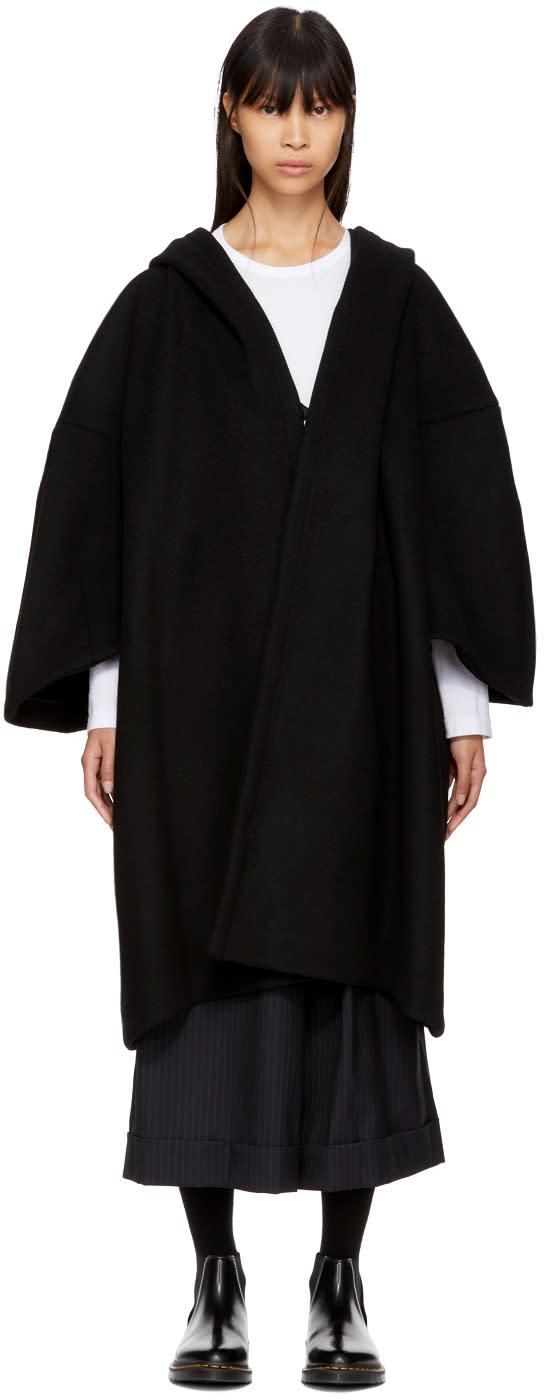 Image of Comme Des Garçons Comme Des Garçons Black Oversized Wool Coat