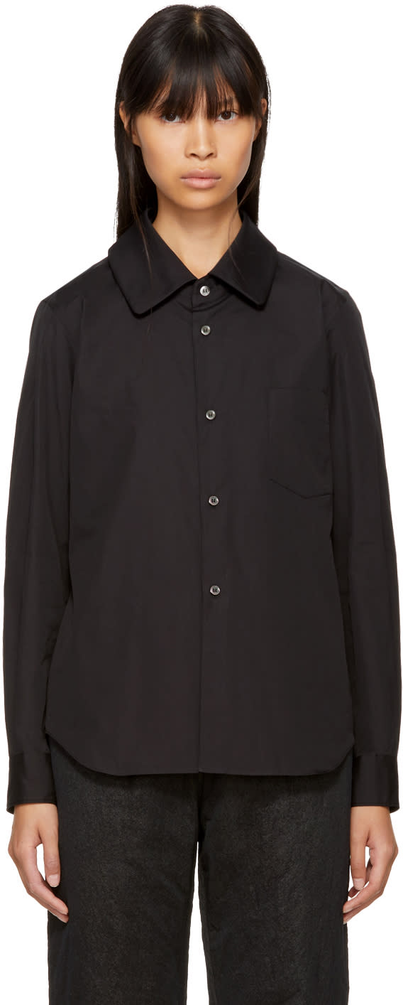 Image of Comme Des Garçons Comme Des Garçons Black Pointed Collar Shirt