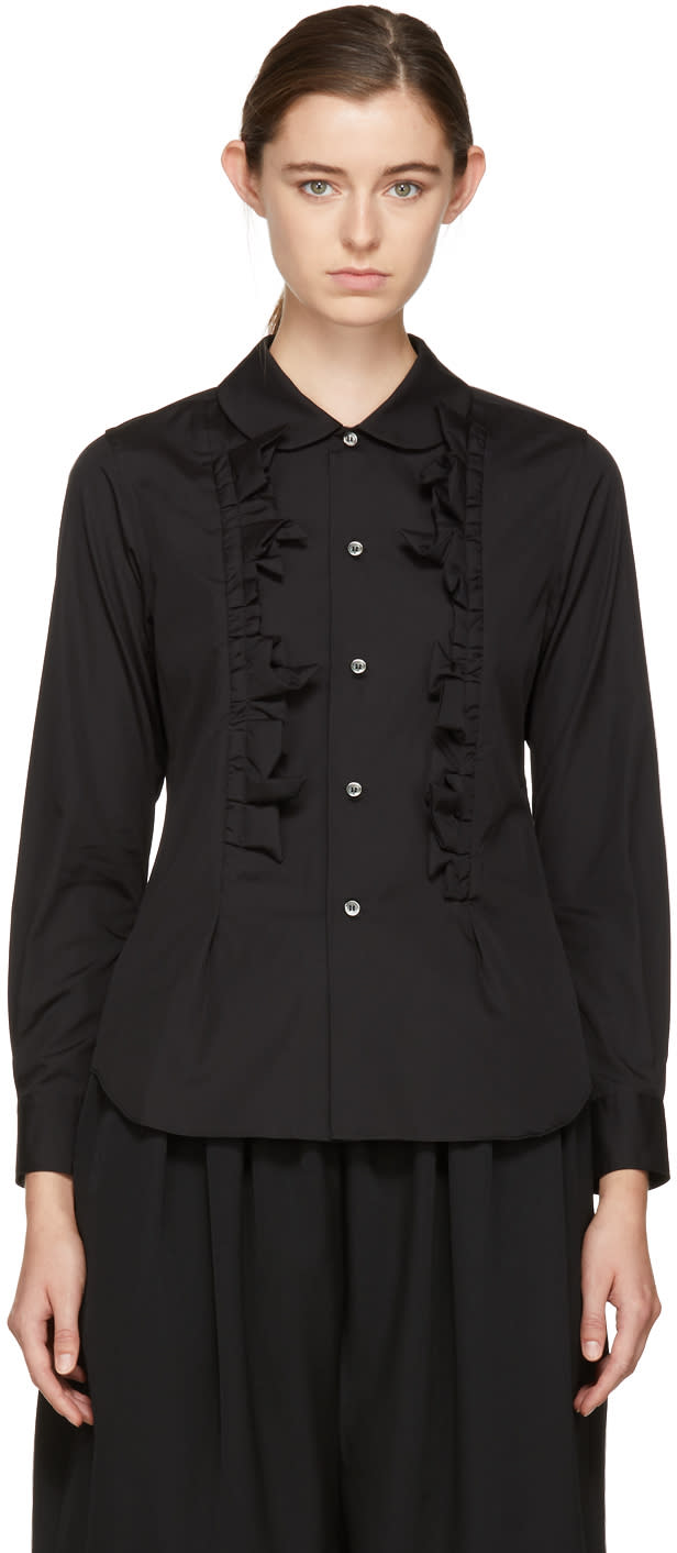 Image of Comme Des Garçons Comme Des Garçons Black Ruffled Shirt