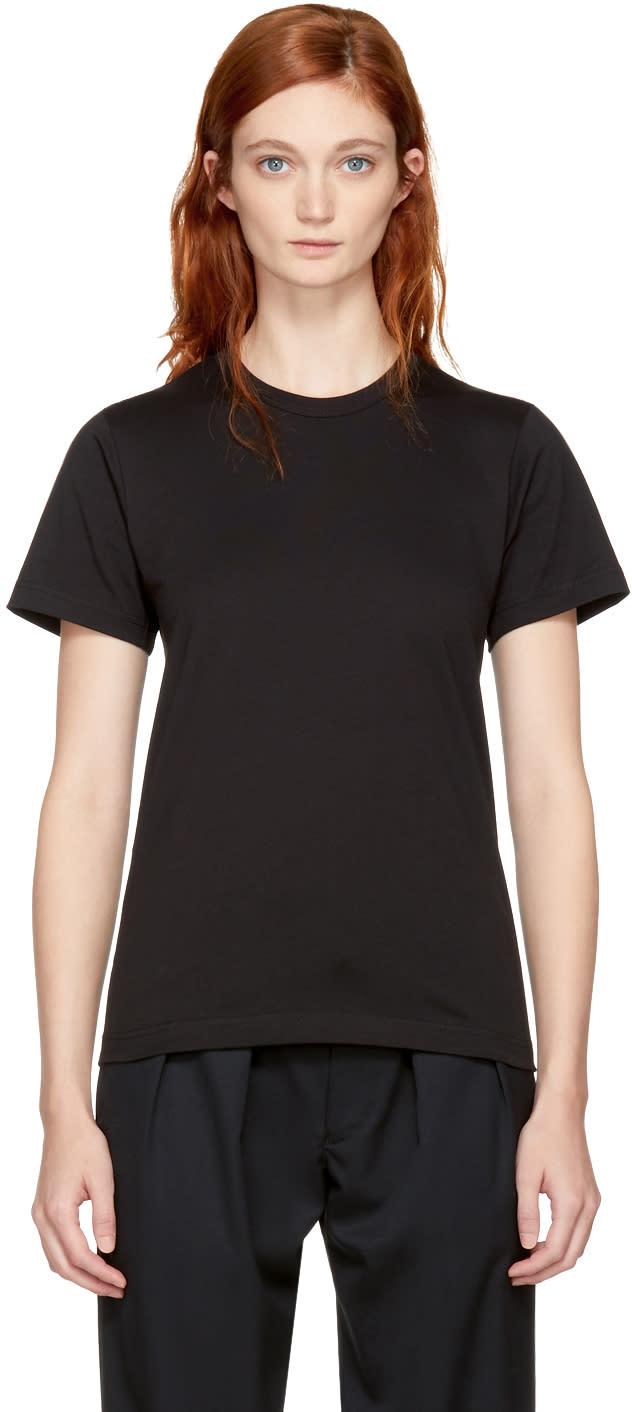 Image of Comme Des Garçons Comme Des Garçons Black Cotton T-shirt