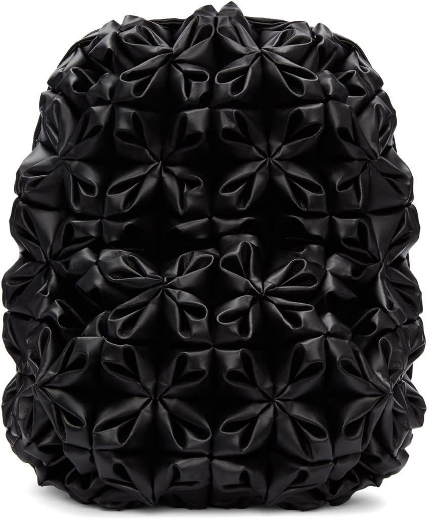 Image of Noir Kei Ninomiya Black Folded and Gathered Backpack
