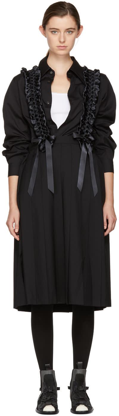 Image of Noir Kei Ninomiya Black Plaited Suspender Pleated Skirt