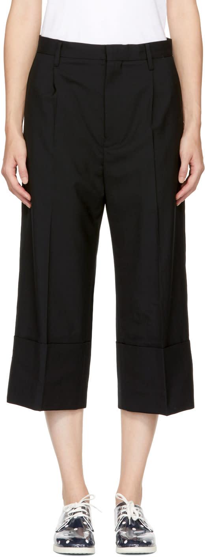 Image of Noir Kei Ninomiya Black Cuffed Trousers