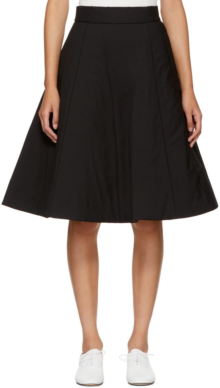 Image of Noir Kei Ninomiya Black Padded Wool Skirt