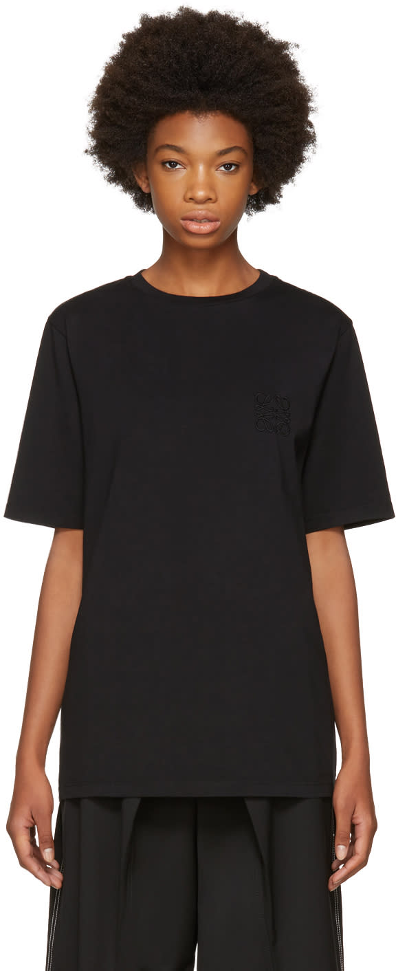 Image of Loewe Black Anagram T-shirt