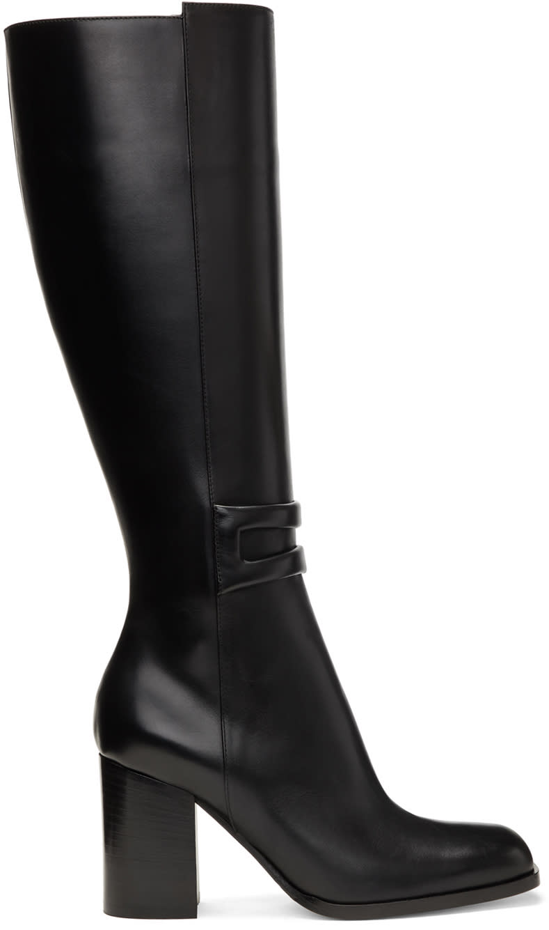 Loewe Black Square Zip Tall Boots