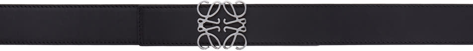 Image of Loewe Black Anagram Belt