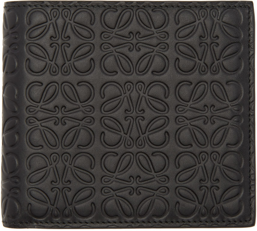Image of Loewe Black Anagram Bifold Wallet
