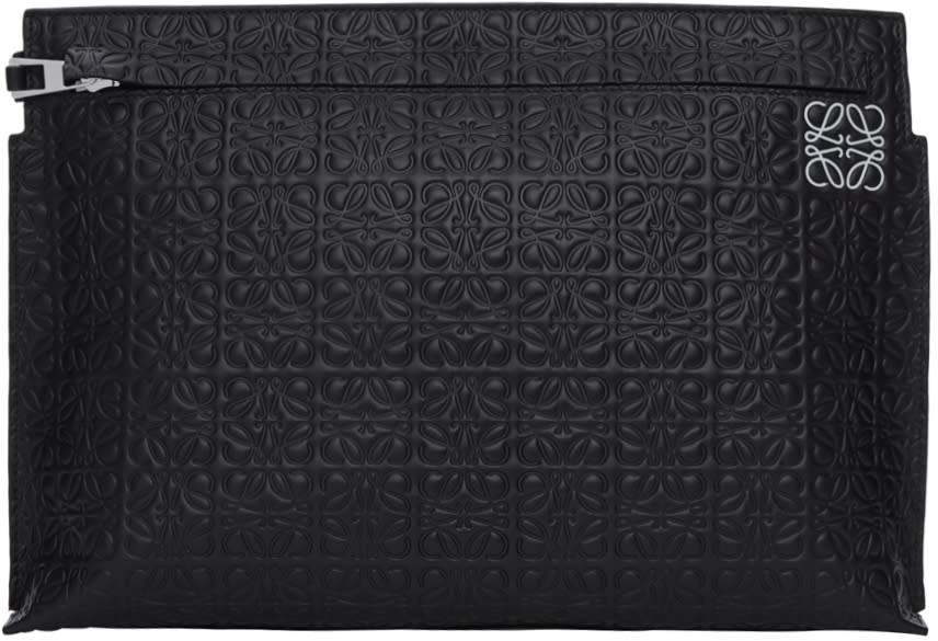 Image of Loewe Black Anagram T Pouch