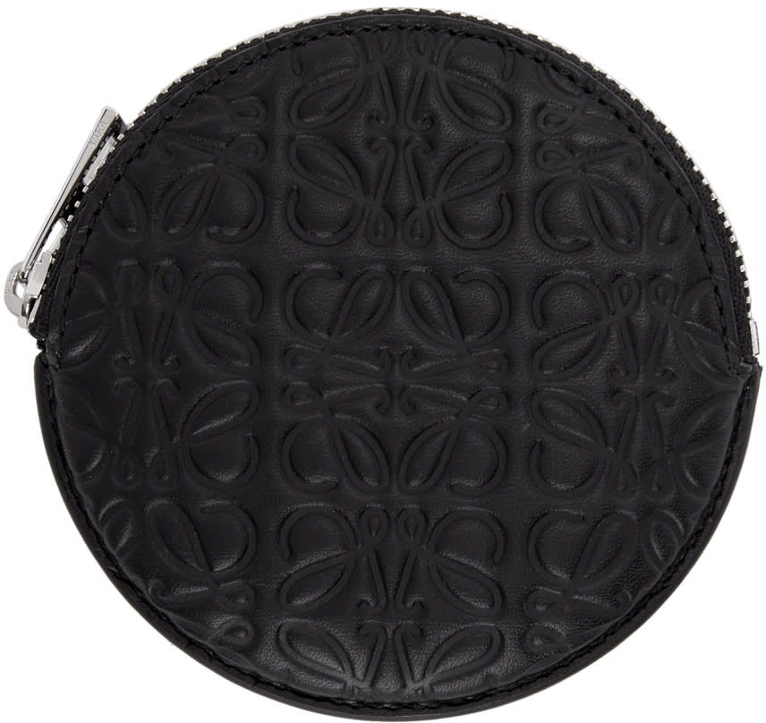 Image of Loewe Black Anagram Cookie Coin Pouch
