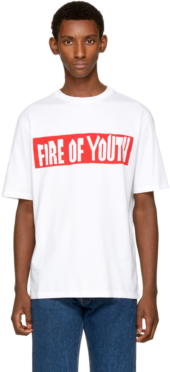 Loewe ホワイト Fire Of Youth T シャツ