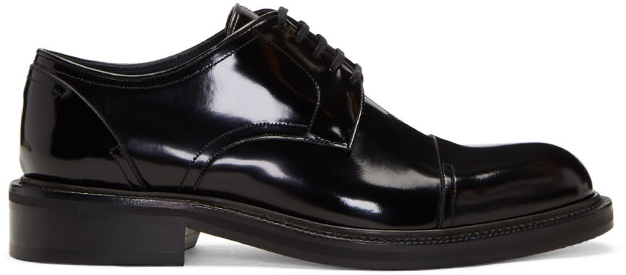 Loewe Black Leather Oxford Derbys