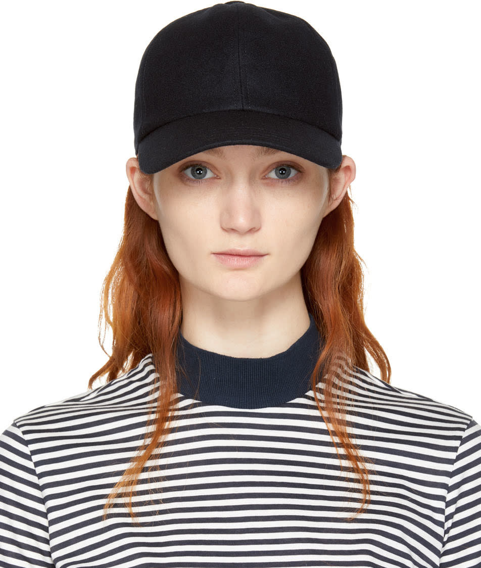 Image of Harmony Black Wool Arnaud Cap