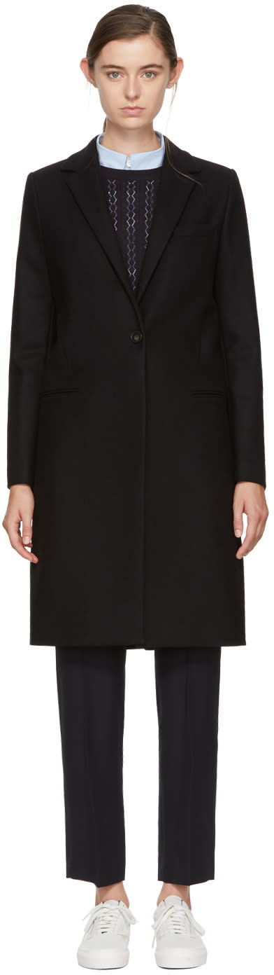 Image of Harmony Black Wool Mathilda Coat