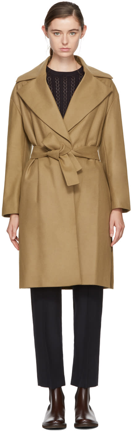 Image of Harmony Tan Maggy Belted Wool Coat