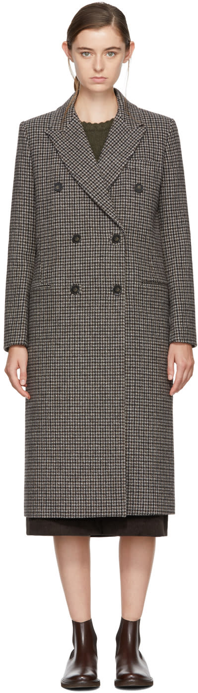 Image of Harmony Grey Houndstooth Marianne Coat