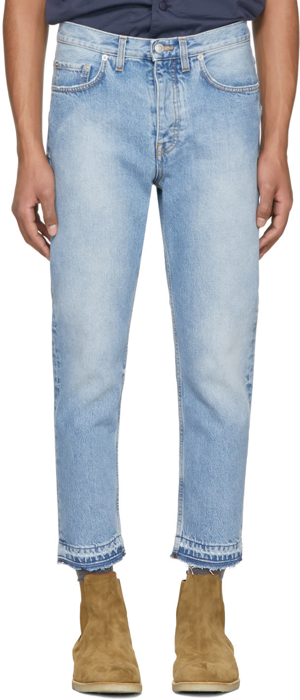 Image of Harmony Blue Cropped Dorian Jeans