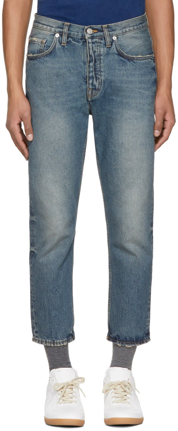 Image of Harmony Blue Cropped Damien Jeans