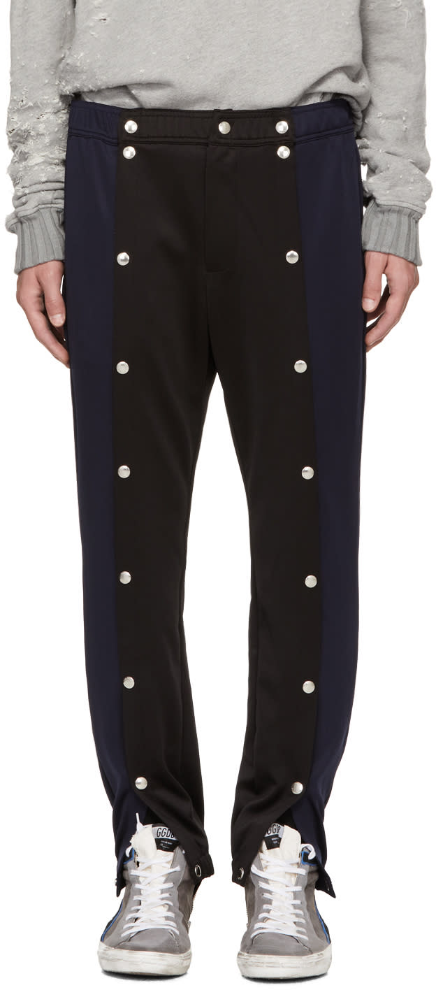 Image of 99% Is Navy and Black Snap Lounge Pants