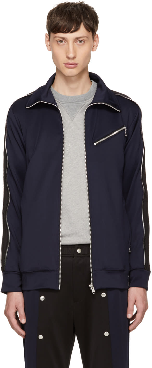 Image of 99% Is Navy and Black Zip Track Jacket