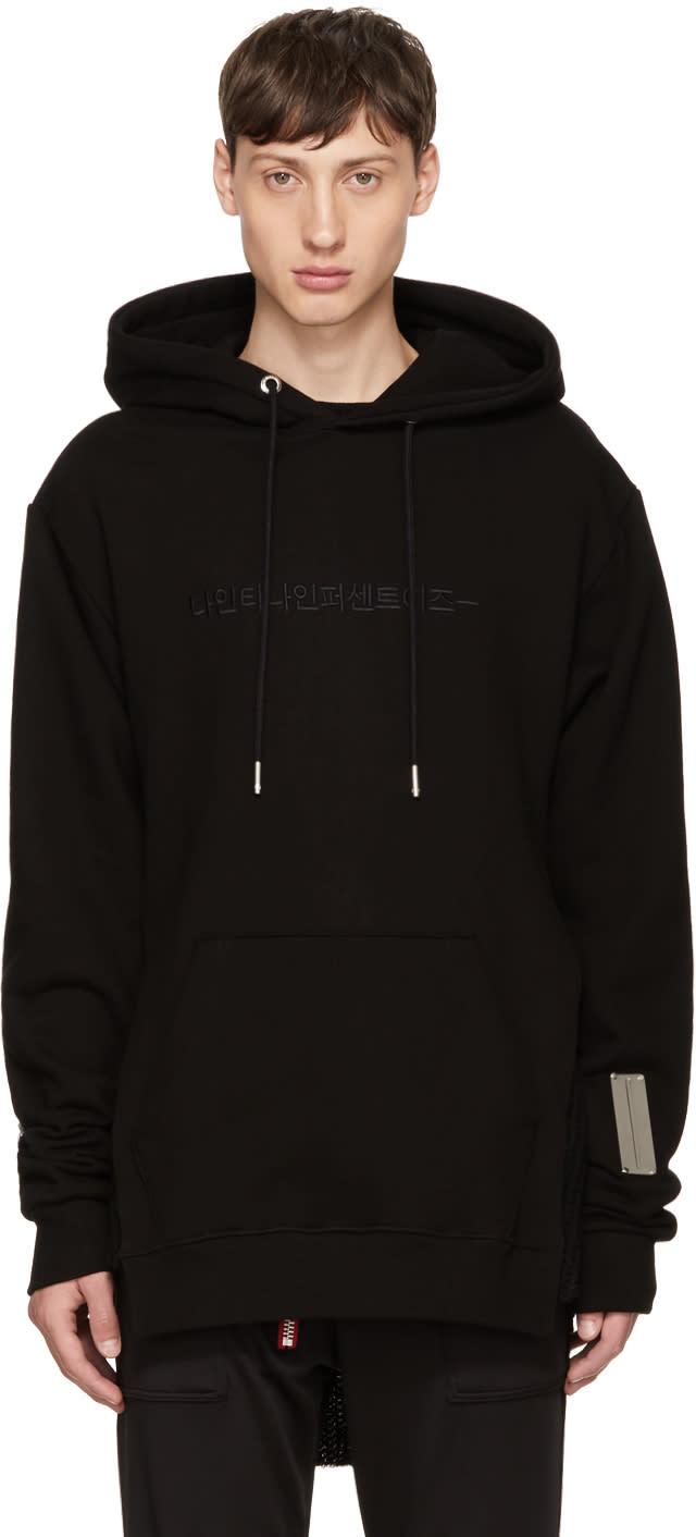 99% Is Black Hangul Logo Hoodie