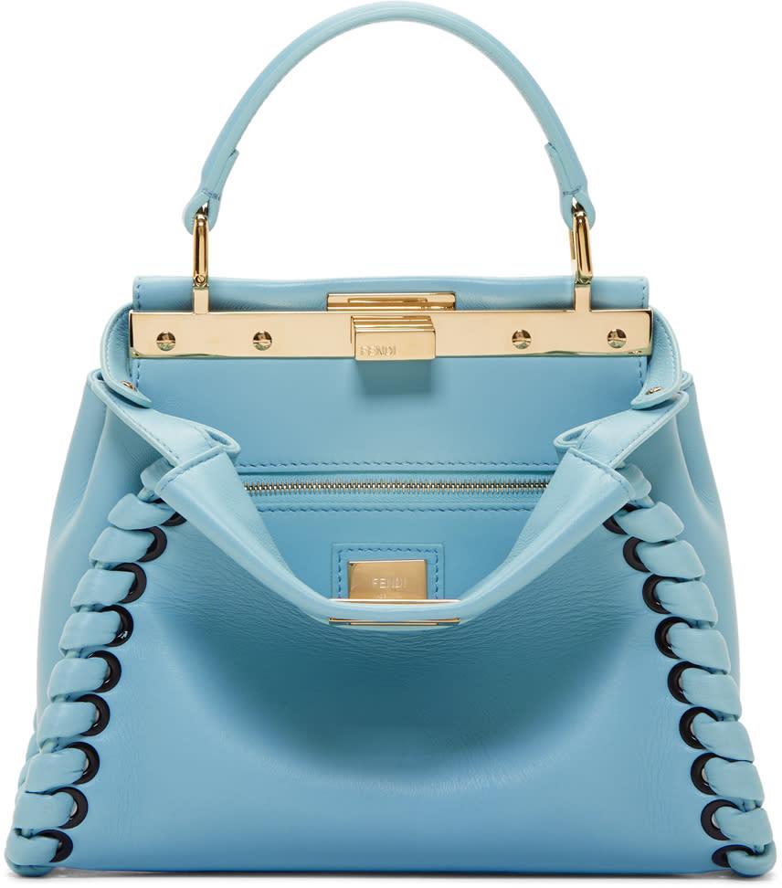 Fendi Blue Mini Peekaboo Bag