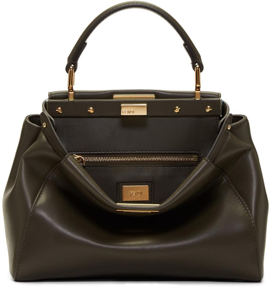 Fendi Taupe Mini Peekaboo Bag