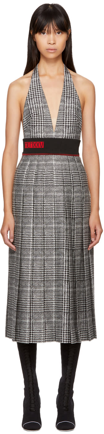 Fendi Black and White Glen Plaid Dress