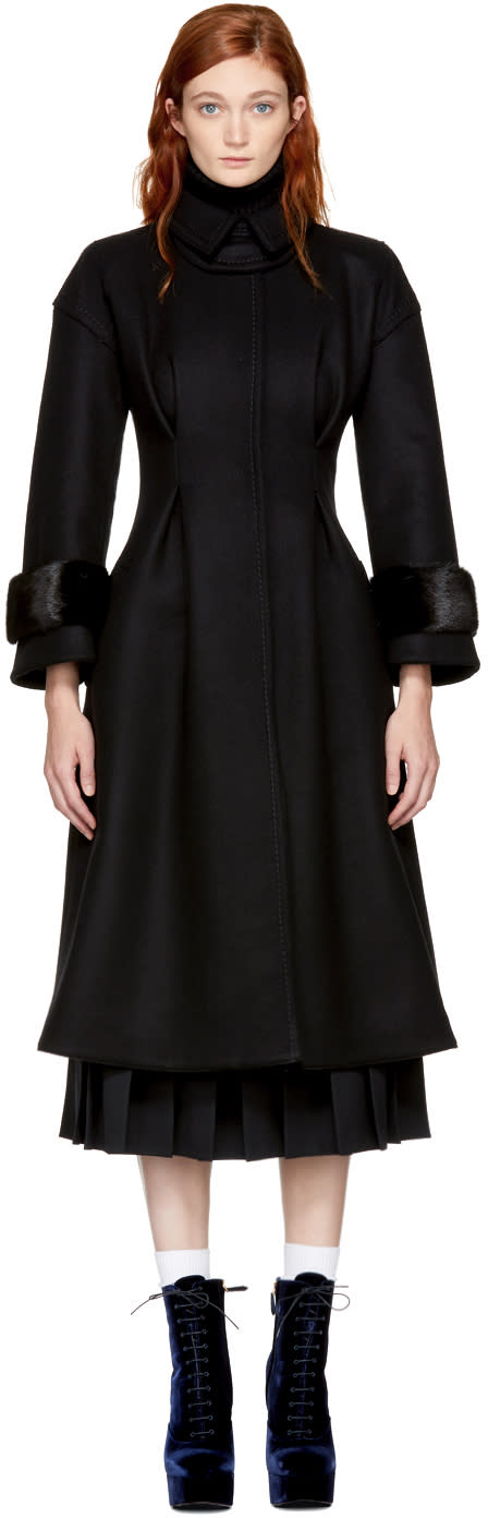 Fendi Black Hourglass Coat