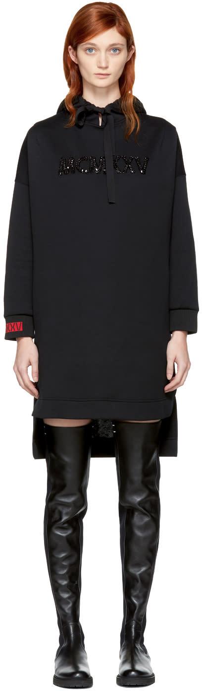 Fendi Black Embellished mcmxxv High-low Hoodie