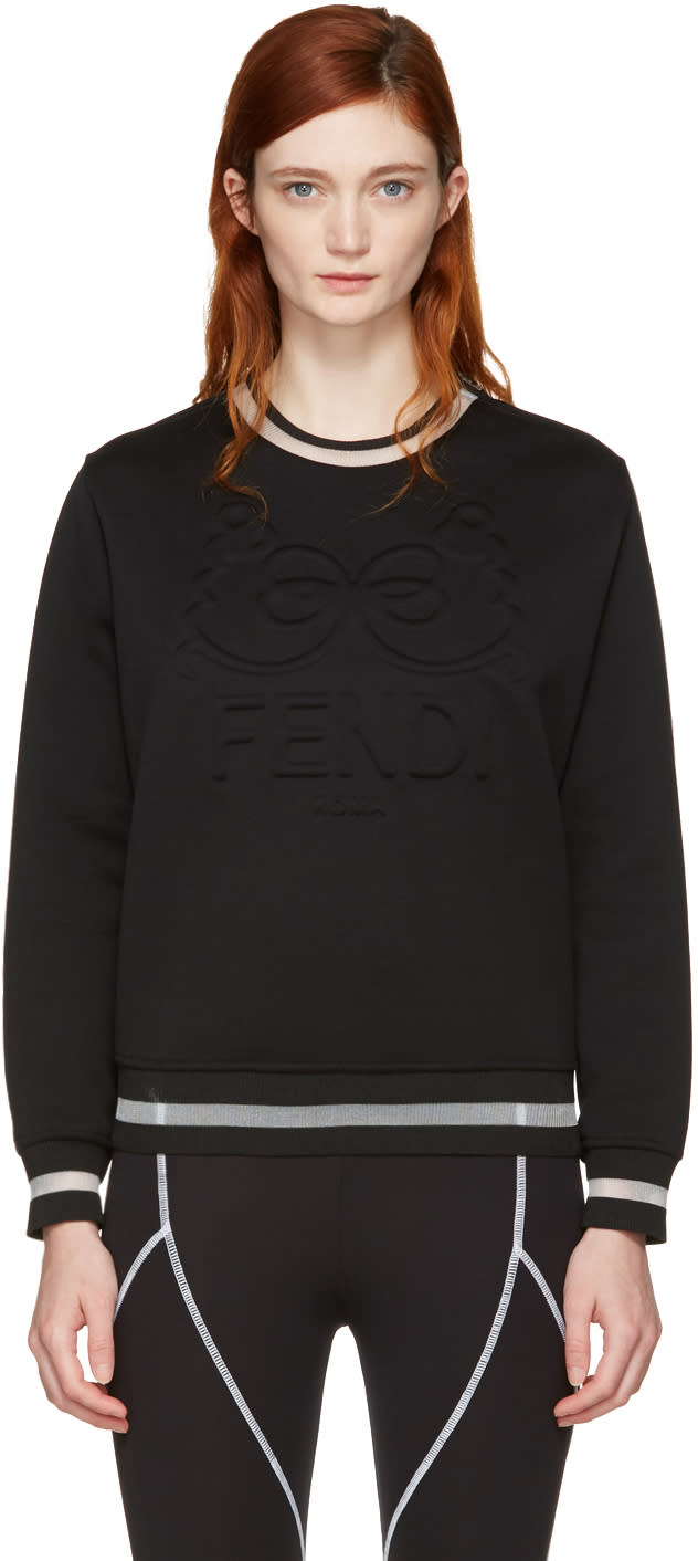 Fendi Black fendi Roma Sweatshirt