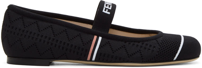 Fendi Black Sock Ballerina Flats