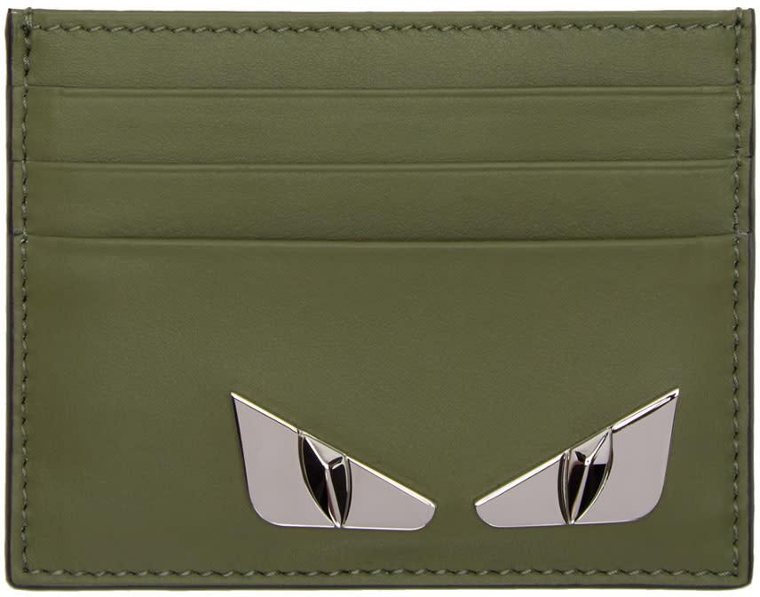 Fendi Green bag Bugs Card Holder