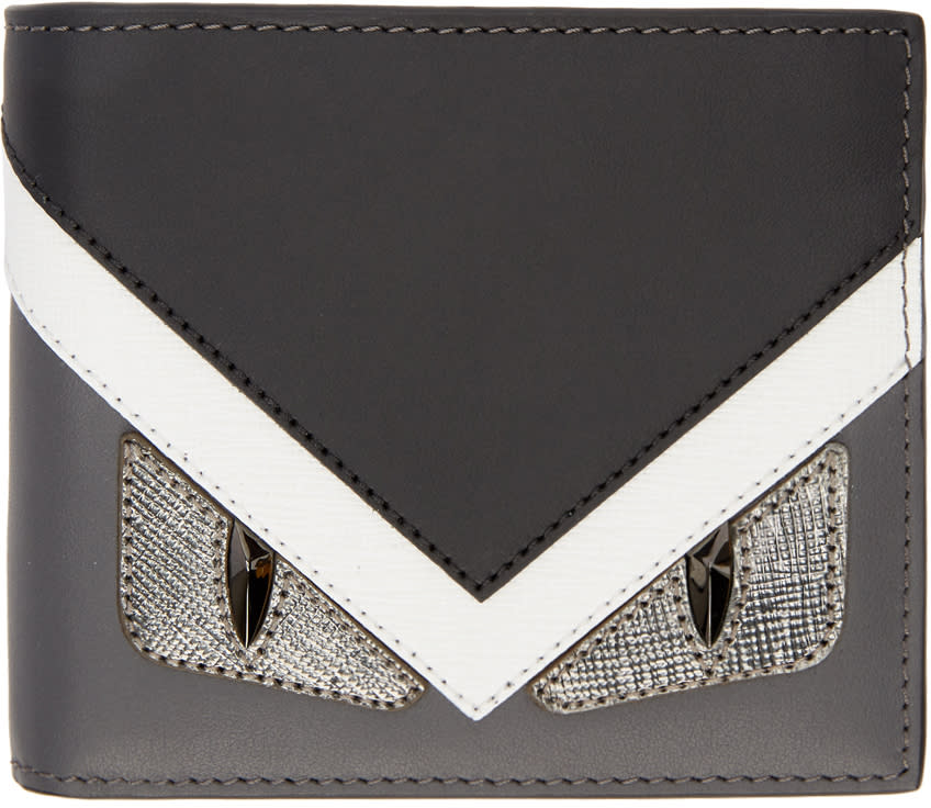 Image of Fendi Black and Grey bag Bugs Wallet