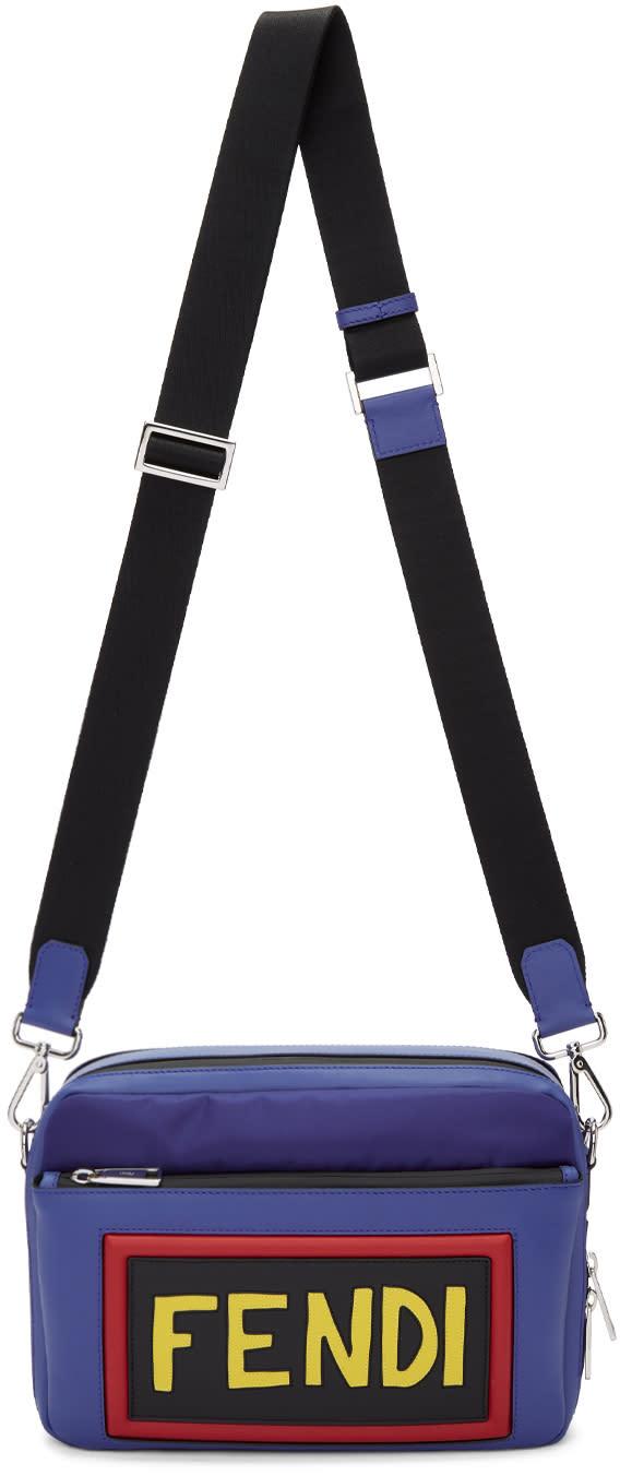 43e91f8a Fendi Blue Nylon and Leather Logo Camera Bag