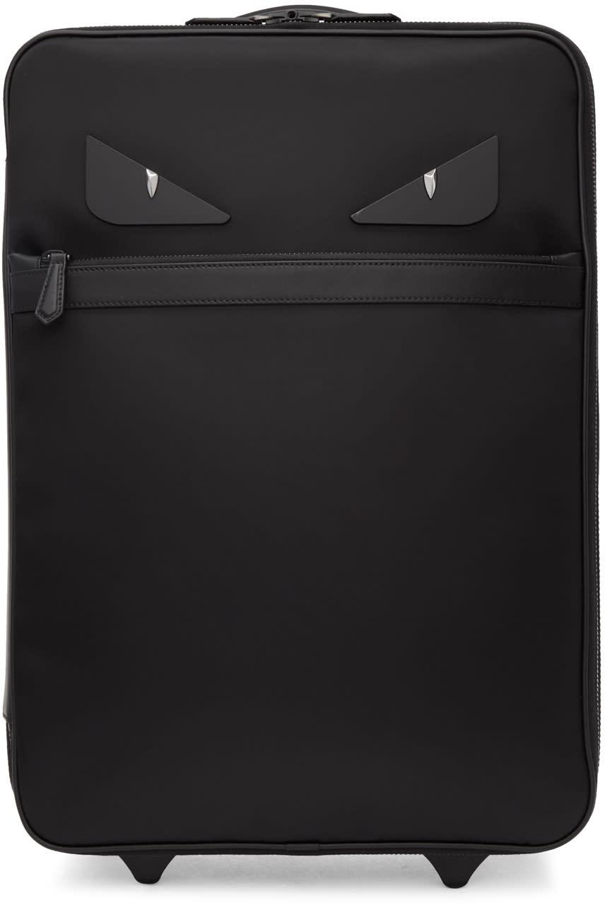 a78ac6d52255 Fendi Black bag Bugs Trolley Suitcase