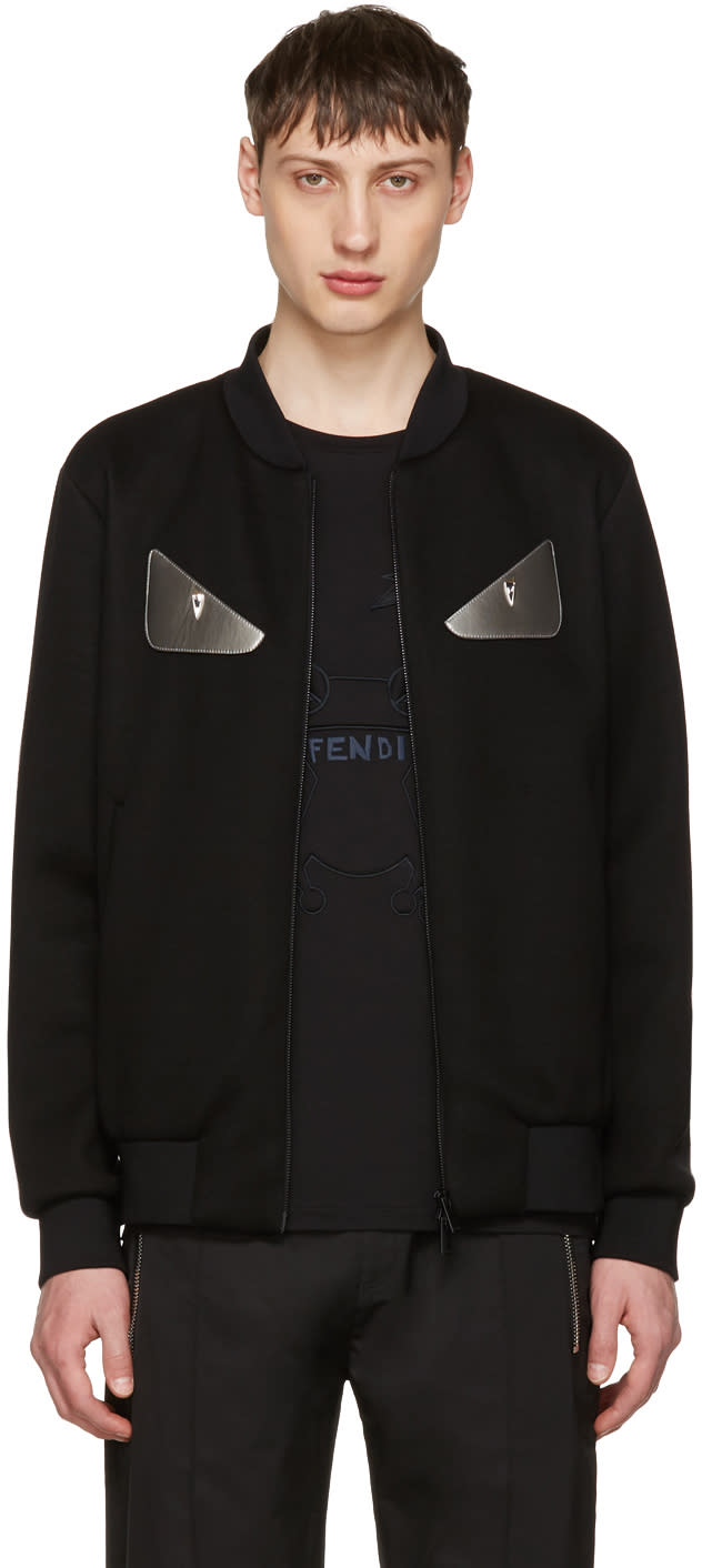 Fendi Black bag Bugs Bomber Jacket
