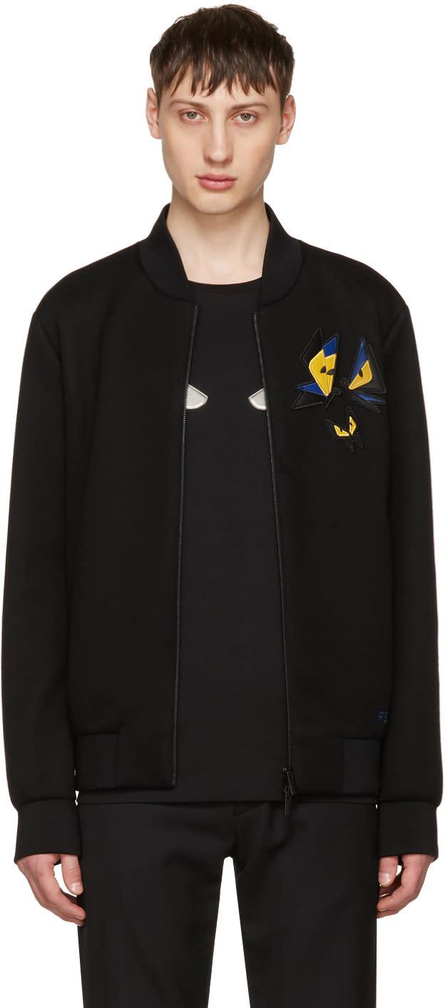 Fendi Black Butterfleyes Bomber Jacket