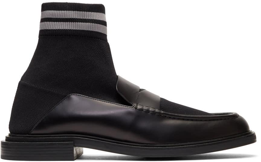 Fendi Black Sock Loafers