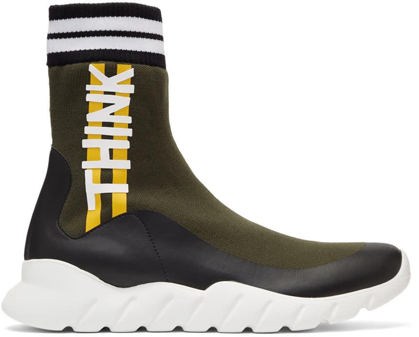 Fendi Multicolor Sock think Fendi High-top Sneakers