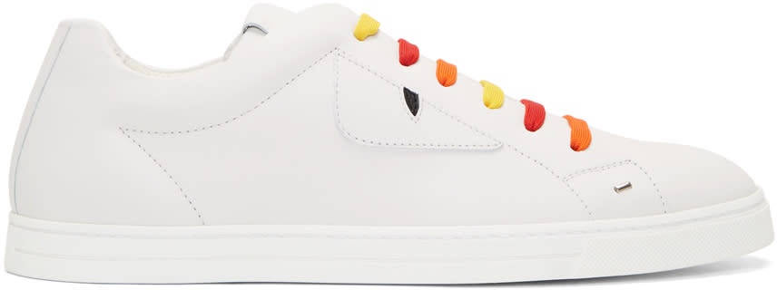 Fendi White and Multicolor bag Bugs Sneakers