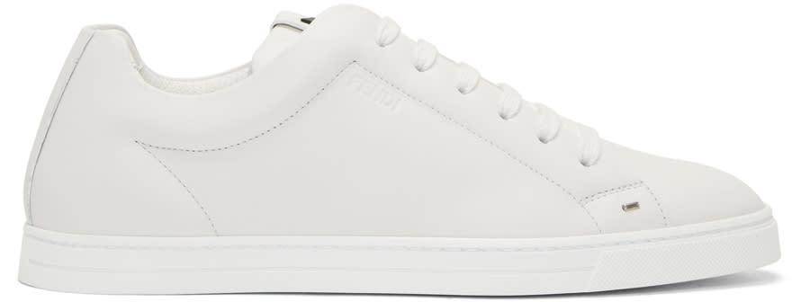 Fendi White Micro bag Bugs Sneakers