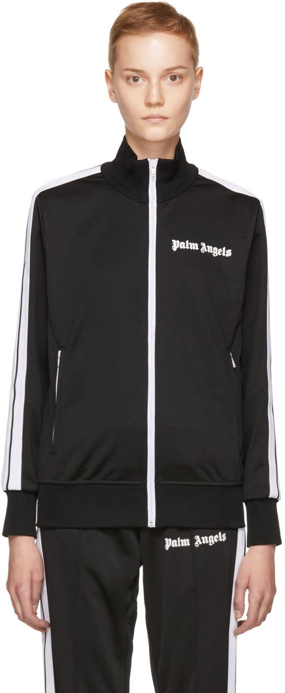 Image of Palm Angels Black and White Logo Track Jacket