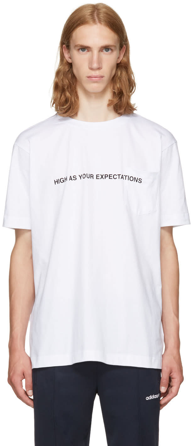 Palm Angels ホワイト High As Your Expectations T シャツ