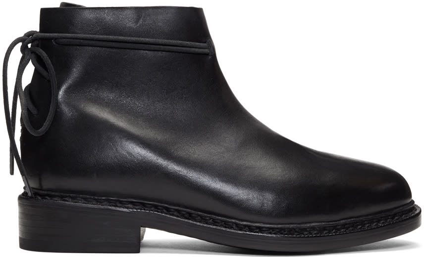 Image of Feit Black Wrap Boots
